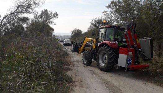 Trabajos de limpieza en la Cañada Real de San Enrique