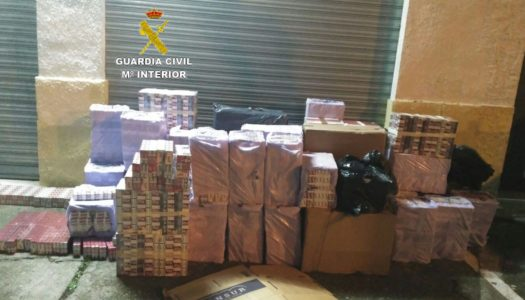 La Guardia interviene 16.000 cajetillas de tabaco en la A-7