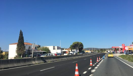 Asfaltan el tramo de la A-7 a la entrada de Torreguadiaro