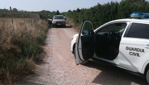 La Guardia Civil detiene a dos personas en San Enrique tras una persecución en coche