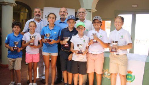 Desoisa y Dano Pérez, ganadores del Gran Premio Alevín y Benjamín en La Cañada Golf