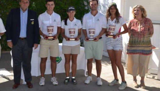 Los hermanos Marín, campeones de Andalucía de Golf en dobles