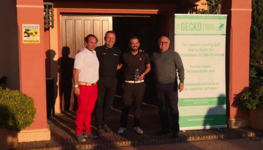 José Mateo consigue su primera victoria profesional en Gecko Tour Golf
