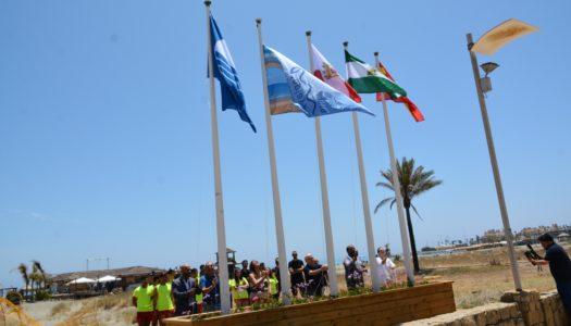 Banderas Azules izadas, en las playas de la zona
