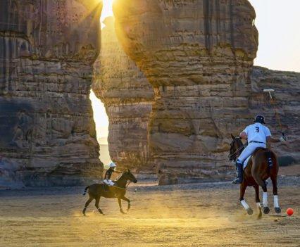 Polo en el desierto de Al Ula