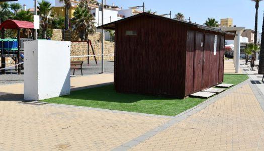 Mejoras en los módulos y equipamientos de la playa de Torreguadiaro