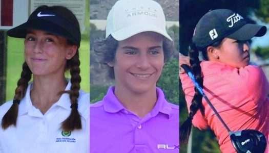El golf otorga pasaporte a Mar García, Ángel Ayora y Mercedes Vega