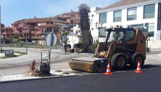 Asfaltan la entrada de Pueblo Nuevo